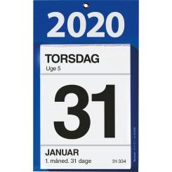 Kontorafrivningskalender, 2020