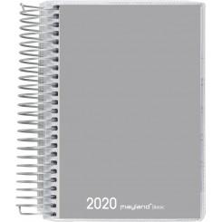 Dagkalender spiralryg grå, 2020