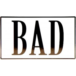 Bad - skilt