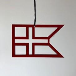 RYBORG Ornament splitflag dannebro