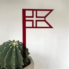 RYBORG Ornament splitflag dannebro på pind