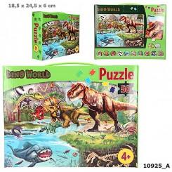 Dino World Puslespil i Box