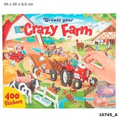 Create your Crazy Farm Aktivitetsbog m. stickers