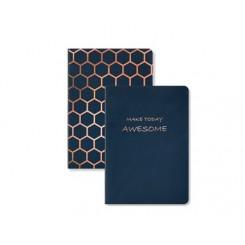 KOZO Notebook A6 2-pak, Navy