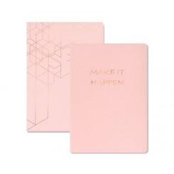 KOZO Notebook A5 2-pak, Pink