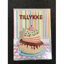 Gigant kort m. kuvert - Tillykke med kage