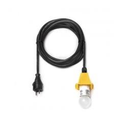 5 m sort ledning m/LED pære - til udendørs brug til 40 og 68 cm (Passer til gul)