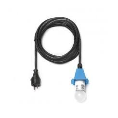 5 m sort ledning m/LED pære - til udendørs brug til 40 og 68 cm (Passer til blå)