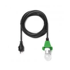 5 m sort ledning m/LED pære - til udendørs brug til 40 og 68 cm (Passer til grøn)