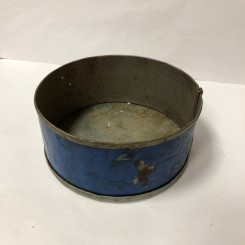 Rustik kageform lille, blå