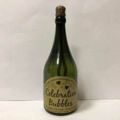 Sæbebobler i champagneflaske