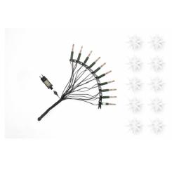 Adventsstjerne lyskæde, (LED) plast, 13cm, samlet,  hvid (Ude- og indendøres)