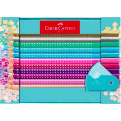 Faber Castell Sparkle farveblyanter, sæt m. 21 dele