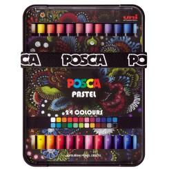 Uni Posca Pastel sæt m. 24 stk.