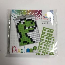 Pixel mosaic nøglering - Dino