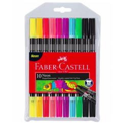 Faber Castell tyk/tynd tusch, neon