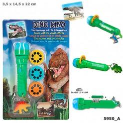 Dino World Lygte m. visuel effekt