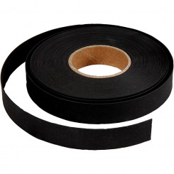 Læderpapir, flettestrimler, sort, 9,5m