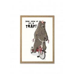 Mouse & Pen illustration A4 - Don't grow up It's a trap