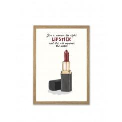 Mouse & Pen illustration A4 - Lipstick