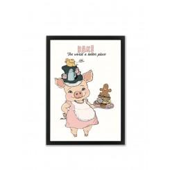 Mouse & Pen illustration A4 - Bake