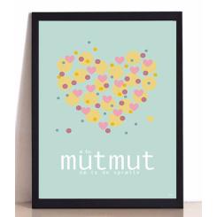 MutMut plakat 50 x 70 cm - Æ KU MUTMUT TE DO SPRÆLLE