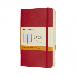 Moleskine Classic soft, Linieret , Red