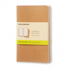 Moleskine, Cahiers Journal, 3 stk., blank, kraft