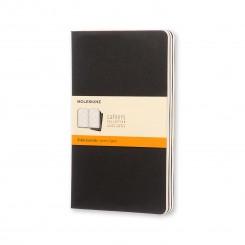 Moleskine, Cahiers Journal, 3 stk., stor, blank, sort