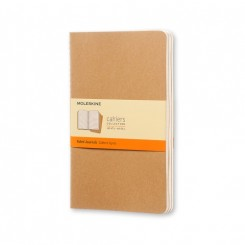 Moleskine, Cahiers Journal, 3 stk., stor, blank, kraft
