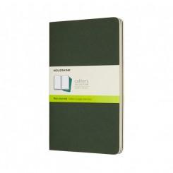 Moleskine, Cahiers Journal, 3 stk., stor, blank, grøn