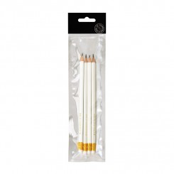 EDGE blyanter m. viskelæder 4 stk., hvid