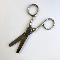 Metal saks med rund spids