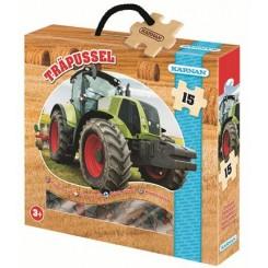 Træpuslespil m/traktor