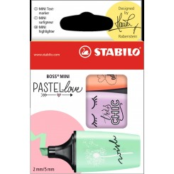 Stabilo Mini Pastel Love, 3 stk.