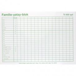 Familie Yatzy med 6 terninger - 3x BLOK A5
