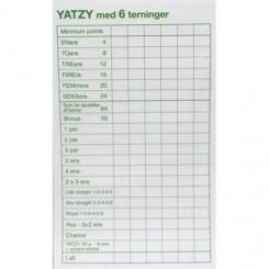 Yatzy med 6 terninger - BLOK