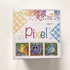 Pixel mosaic cube, fugle