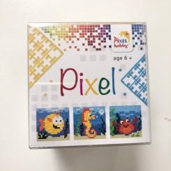 Pixel mosaic cube, havdyr