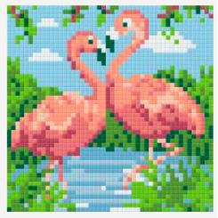 Pixelsæt - Flamingopar