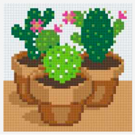 Pixelsæt - Kaktus