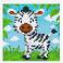Pixelsæt - Zebra