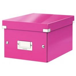 Leitz opbevaringskasse pink, lille