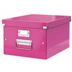 Leitz opbevaringskasse pink, mellem