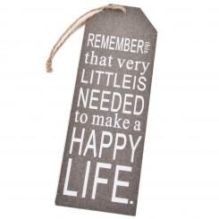 Træskilt - Remember...