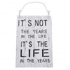 Træskilt - Years in life