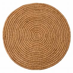 Rice stor rund raffia dækkeserviet, natur