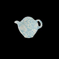 Rice teposeholder, Blue fern and flower print