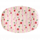 Rice rektangulær melamin tallerken, Cherry