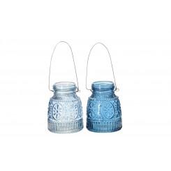 Vaser SEASIDE m/hænger aqua blue. 2 ass.